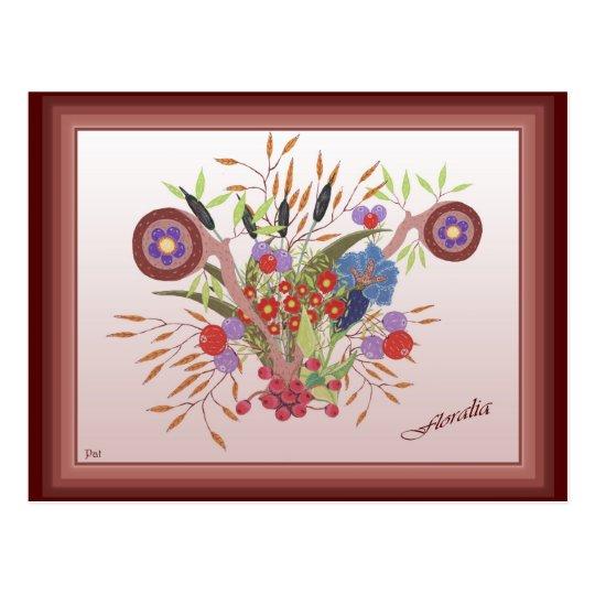 carte postale Floralia peinture de fleurs