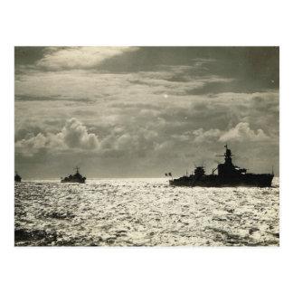 Carte Postale Flotille des navires des forces navales français