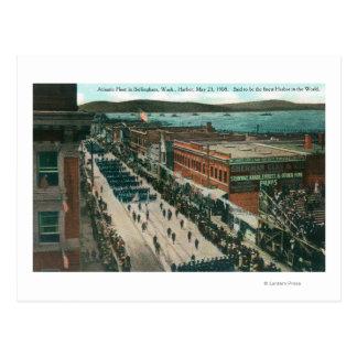 Carte Postale Flotte atlantique de marine des USA dans le port