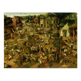 Carte Postale Foire avec une représentation théâtrale, 1562