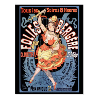 Carte postale : Folies Bergere