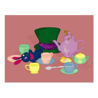 Carte postale folle de thé