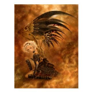 Carte postale foncée d'ange de Steampunk