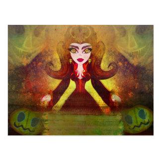 carte postale foncée de sorcière