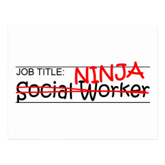 Carte Postale Fonction Ninja - assistant social