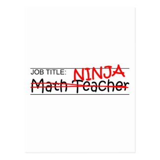 Carte Postale Fonction Ninja - professeur de maths