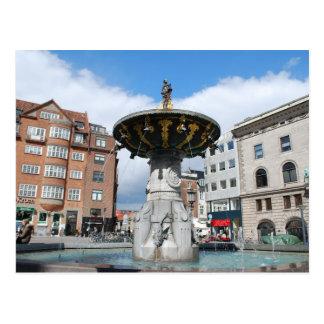 Carte Postale Fontaine bonne Copenhague Danemark de Caritas