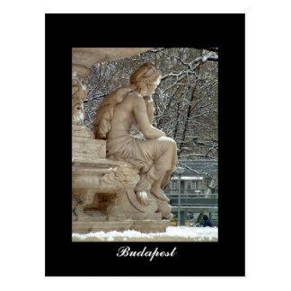 Carte Postale Fontaine de Danubius, Budapest