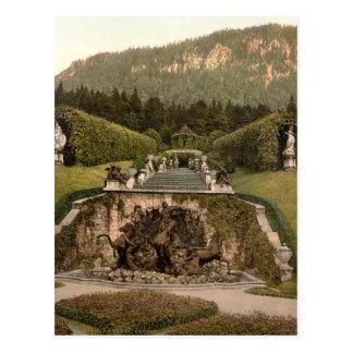 Carte Postale Fontaine de Neptune, château de Linderhof,
