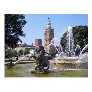 Carte Postale Fontaine de plaza de Kansas City, Missouri