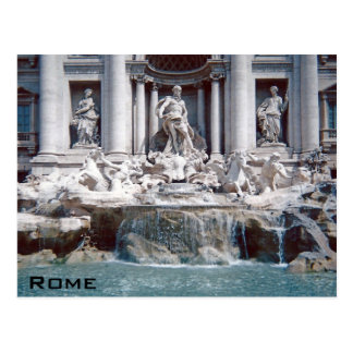Carte Postale Fontaine Rome de TREVI