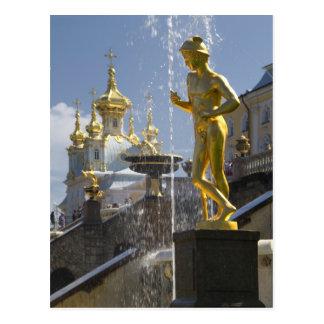 Carte Postale fontans de Petergof, St Petersburg, Russie