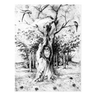 Carte Postale Forêt d'audition et champ de voir par Hieronymus