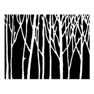 Carte Postale Forêt de bouleau par des poivrons de Leslie