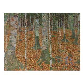 Carte Postale Forêt de bouleau par Gustav Klimt, art vintage
