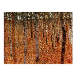 Carte Postale Forêt de Gustav Klimt d'art de Fne d'arbres de