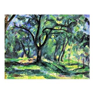 Carte Postale Forêt par Paul Cézanne (la meilleure qualité)