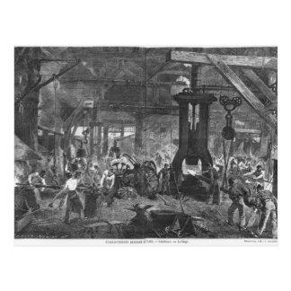 Carte Postale Forge de Derosne et Cail Company,