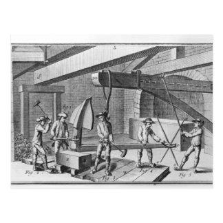 """Carte Postale Forgeant une ancre, de """"encyclopédie"""" par Denis"""