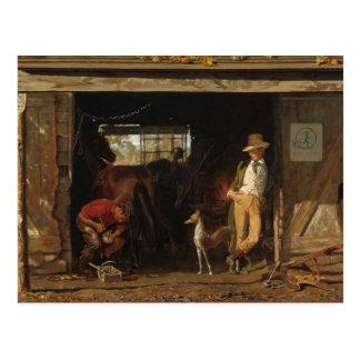 Carte Postale Forgeron et cowboy de WildWest d'Américain