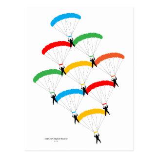 Carte Postale Formation de parachute