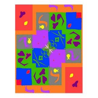 Carte Postale Formes de style de Matisse