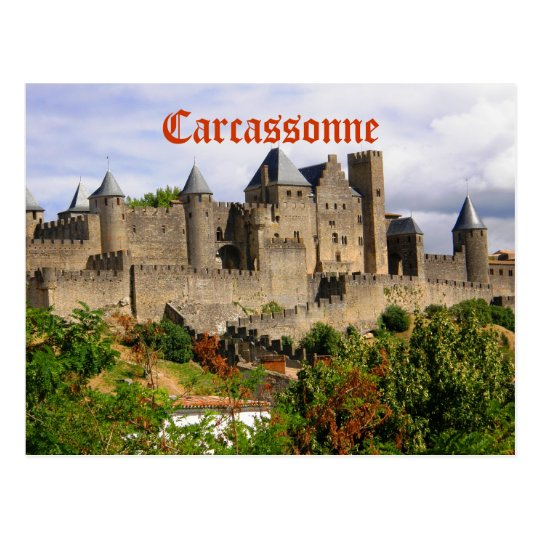 Carte Postale Forteresse de Carcassonne en France   Zazzle.fr