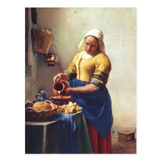 Carte Postale Fourgon Delft, janv. Milchausgie de Vermeer ? ende