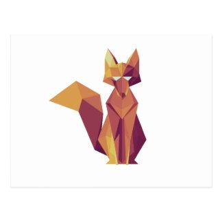 Carte Postale Fox géométrique
