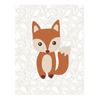 Carte Postale Fox mignon de bébé