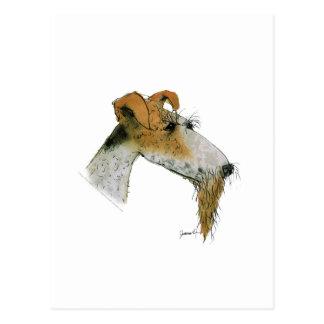 Carte Postale Fox Terrier, fernandes élégants