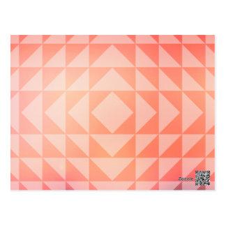 Carte Postale Fractales géométriques de triangles d'art bleues