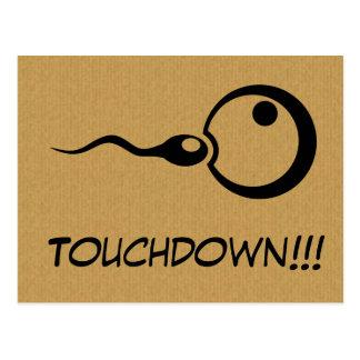 Carte postale fraîche de grossesse de touchdown