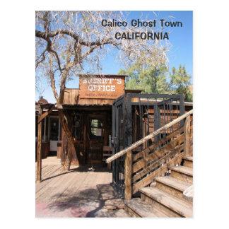 Carte postale fraîche de ville fantôme de calicot
