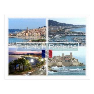 Carte Postale Franc d'Azur de France - la Côte d'Azur - de Côte