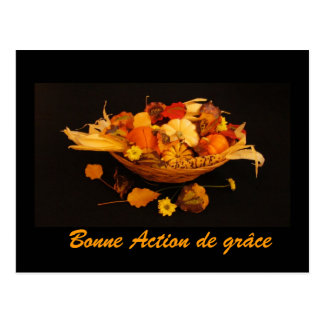 Carte Postale Français : Bon thanksgiving