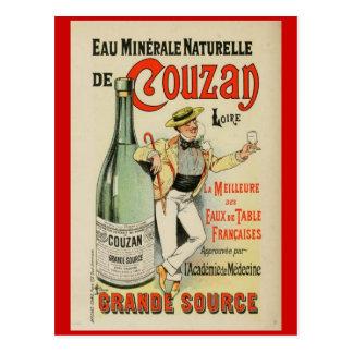 Carte postale française de poster vintage d'époque