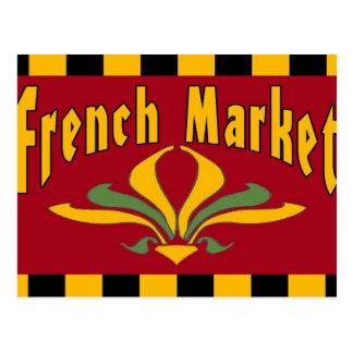 Carte postale française de signe du marché