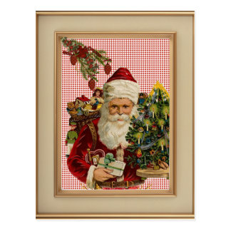 Carte postale française vintage de Noël de pays de