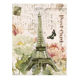 Carte postale française vintage de Tour Eiffel