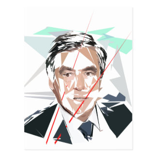 Carte Postale Francois Fillon avant pénéloppe gate