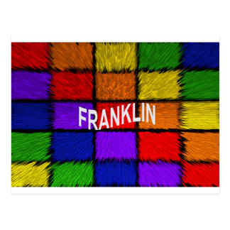 CARTE POSTALE FRANKLIN
