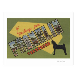 Carte Postale Franklin, Tennessee - grandes scènes de lettre