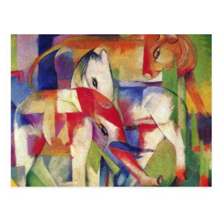Carte Postale Franz Marc - éléphant, cheval, bétail, hiver