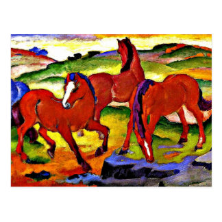 Carte Postale Franz Marc - frôlant des chevaux IV. 1911