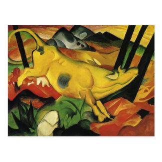 Carte Postale Franz Marc la vache jaune