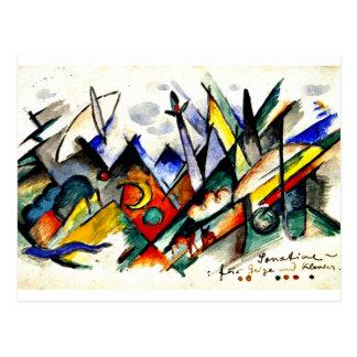 Carte Postale Franz Marc - Sonatine pour le violon et le piano