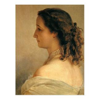 Carte Postale Franz Winterhalter : Eugenie, impératrice de