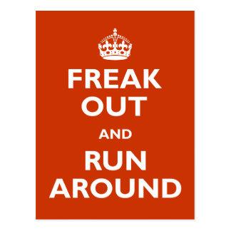 Carte Postale Freak et courez autour