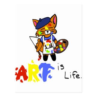 Carte Postale Fred l'artiste Fox